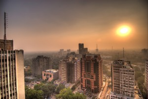 sunset-at-connaught-place-delhi
